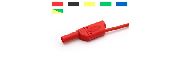 Safety test leads stackable 2.5qmm 600V CATIII / 32A