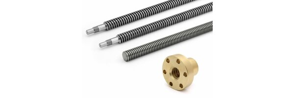 Trapezoidal threaded spindle & nuts