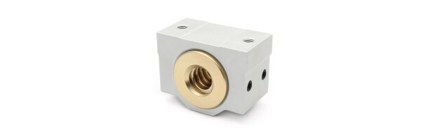 Trapezoidal thread nuts with housing