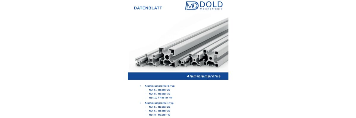 Neuer Gesamtkatalog / Datenblatt für Aluprofile erscheint in Kürze - Katalog Aluprofile