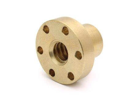 Trapezoidal screw nut flange EBFM 10x2 right gunmetal