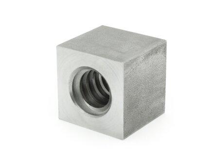 Dado filettato trapezoidale EVKM 14X3 destro acciaio, quadrato SW25L20