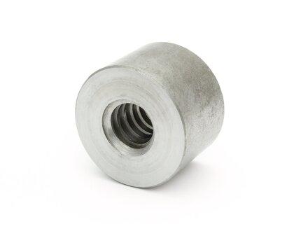 Trapezoidal threaded nut EKSM 20X8P4 right steel D45L30