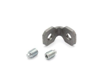 Angolo interno in acciaio zincato 20 cava tipo B 6 con viti 2x M4x6 DIN 915