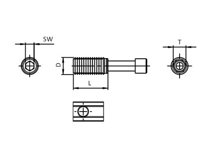 T-Matik Verbinder 20 I-Typ Nut 5