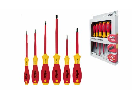 SoftFinish® electric slotted / Phillips screwdriver set, 6 parts