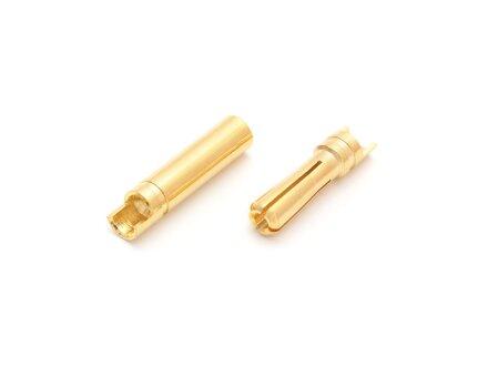 Tapones de contacto de oro de 4,0 mm ranurados, 10 pares