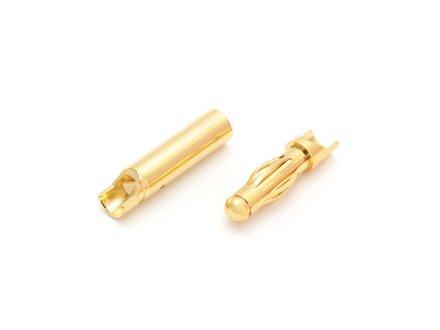 Tapón de contacto dorado Contacto laminar de 4,0 mm, 10 pares