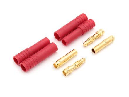 Spina di contatto dorata da 4,0 mm con custodia a 2 pin, 5 set (10 custodie, 20 contatti)