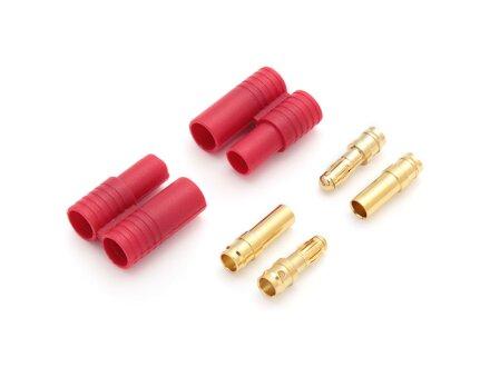 Spina di contatto dorata da 3,5 mm con custodia a 2 pin, 5 set (10 custodie, 20 contatti)