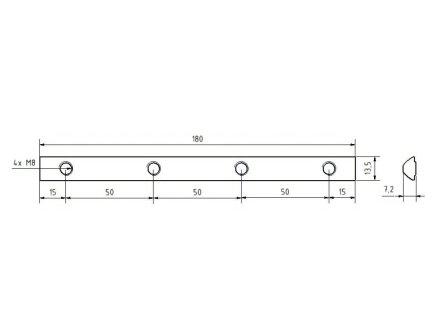 Connecteurs de Profil 180 Rainure 8 Incl Kit de Fixation
