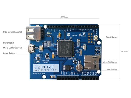 PHPoC WiFi Shield für Arduino / Genuino