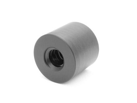 Trapezoidal threaded nut ELCM 12x3 right plastic PA6.6 D26L24