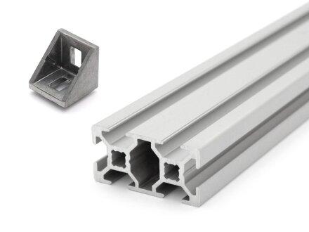 AM8 - Aluprofile und 12 Winkel 20x20
