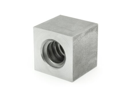 Trapezoidal threaded nut EVKM 20X4 right steel, square SW35L30