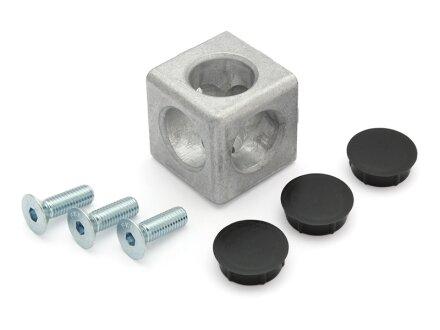 Connettore cubo 3D 40 slot tipo I 8 incl. Kit di montaggio e tappi di copertura