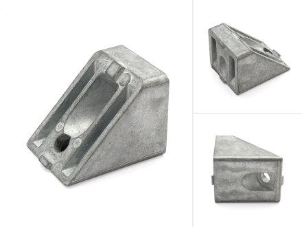45 ° angle connector 40 I-type groove 8