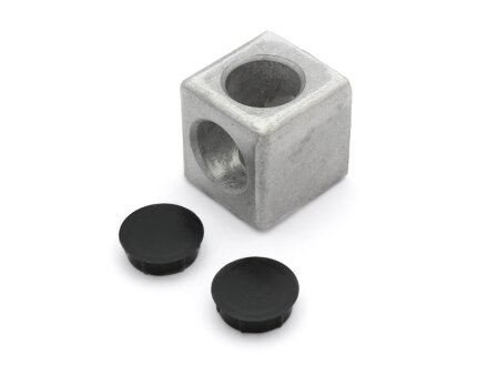 Würfelverbinder 2D 40 I-Typ Nut 8 inkl. 2 Abdeckkappen