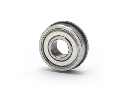 Cuscinetto a sfere flangiato miniaturizzato in acciaio inossidabile SS-MF-106-ZZ 6x10x3 mm