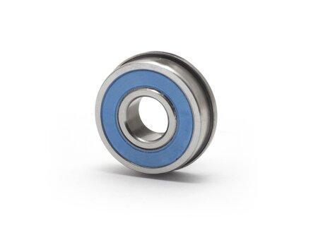 Cuscinetto a sfere flangiato miniaturizzato in acciaio inossidabile SS-F-624-2RS 4x13x5 mm