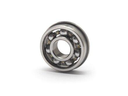 Cuscinetto a sfere flangiato miniaturizzato in acciaio inossidabile SS-F-695 aperto 5x13x4 mm