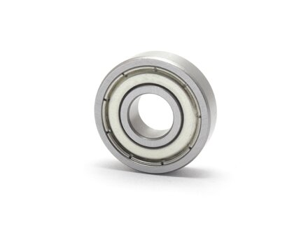 Stainless steel miniature ball bearings inch / inch SS-R166-ZZ 4.763x9.525x3.175 mm