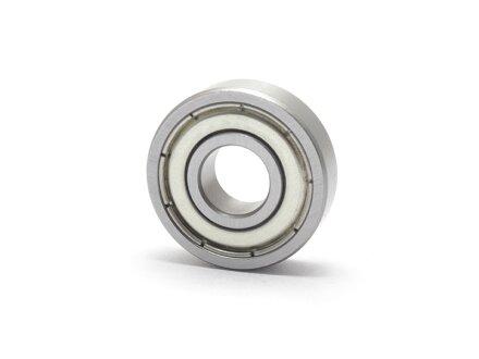 RVS miniatuur kogellagers inch SS-R2-ZZ 3.175x9.525x3.967 mm